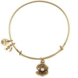 Alex & Ani Bronze Pearl Clam Shell Bracelet